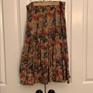 Coldwater Creek tan and floral skirt.